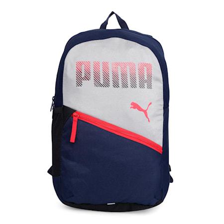 PUMA Plus Backpack, Limestone-Peacoat, small-IND