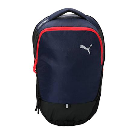 PUMA X Backpack, Peacoat-Puma Red-Puma Black, small-IND