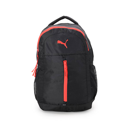 PUMA Pals Backpack IND, Puma Black-Poppy Red, small-IND