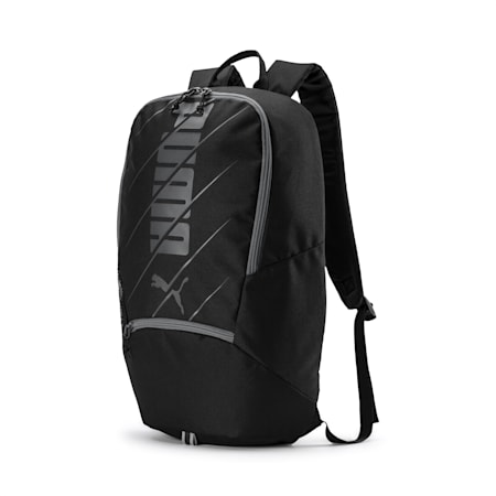 ftblPLAY Backpack, Puma Black-Asphalt, small-IND