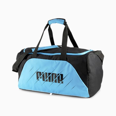 ftblPLAY Medium Gym Bag, Luminous Blue-Puma Black, small