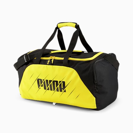 ftblPLAY Medium Gym Bag, ULTRA YELLOW-Puma Black, small