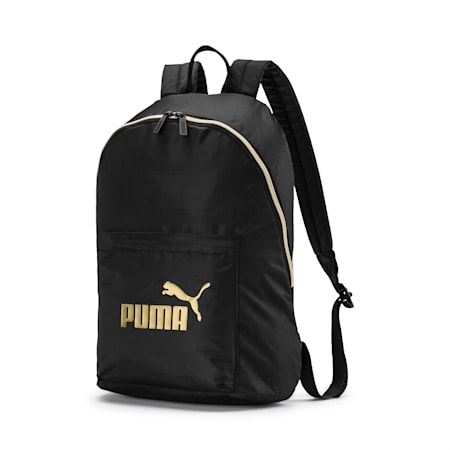 Women's Seasonal Backpack, Puma Black-Gold, small-IND