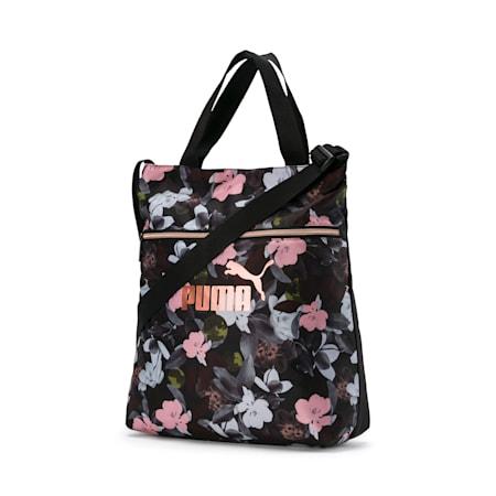 Seasonal Women's Shopper, Puma Black-Floral AOP, small-IND