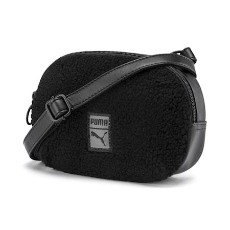 Prime Time Women's X-Body Bag, Puma Black-Puma Black, small-IND