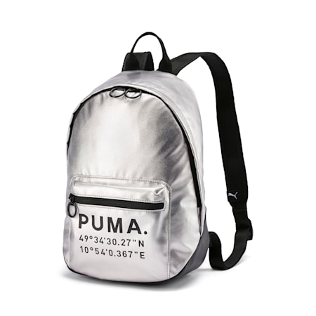 Time Archive Women's Backpack, Silver-Puma Black, small-SEA