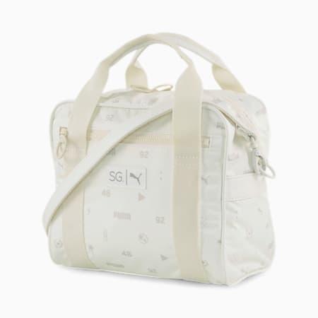 SG x PUMA Mini Duffel Bag, Whisper White-AOP, small