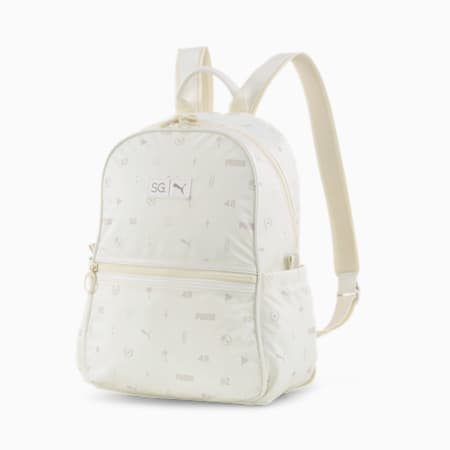 SG x PUMA Backpack, Whisper White-AOP, small