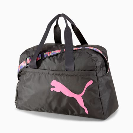 Active Training Essential Women's Grip Bag, Puma Black-Bubblegum, small-SEA