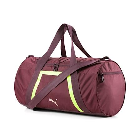 Active Training Shift Women's Duffel Bag, Vineyard Wine-Yellow Alert, small-SEA