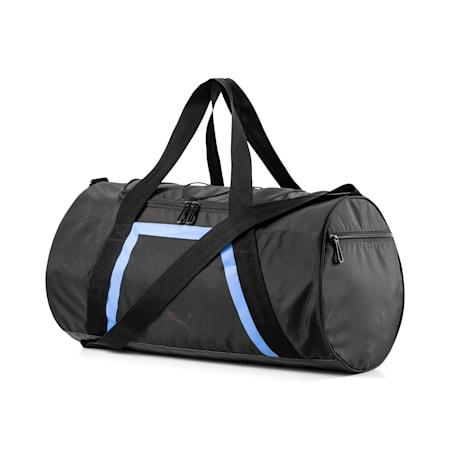 Active Training Shift Women's Duffel Bag, Puma Black-Blue Glimmer, small-SEA