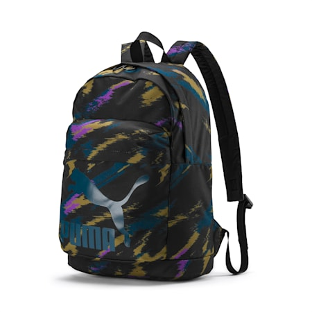 Originals Backpack, Puma Black-AOP, small