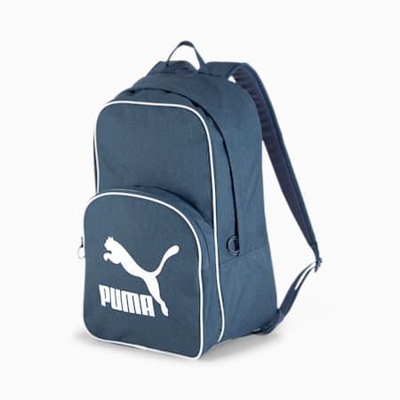 Originals Retro Woven Backpack, Dark Denim, small