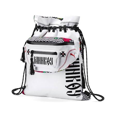 PUMA x JAHNKOY Backpack, Puma White-Multicoloured, small