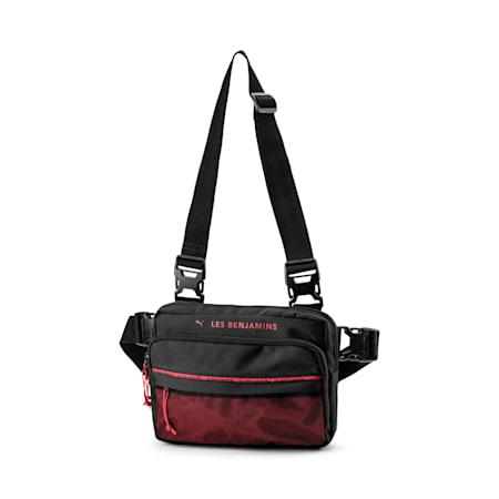 PUMA x LES BENJAMINS Shoulder Bag, Puma Black, small-SEA