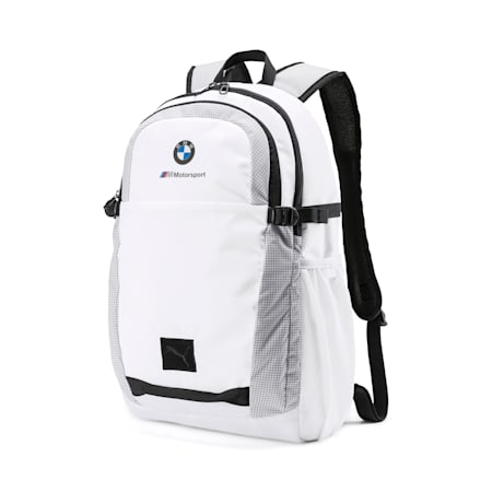 BMW M Motorsport Backpack, Puma White, small-SEA