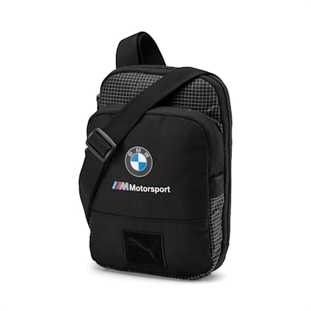BMW Motorsport Small Shoulder Bag, Puma Black, small-IND
