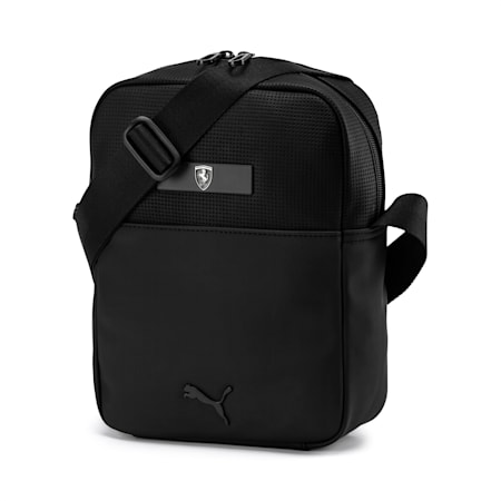 PUMA x Ferrari Large Portable Shoulder Bag, Puma Black, small-IND