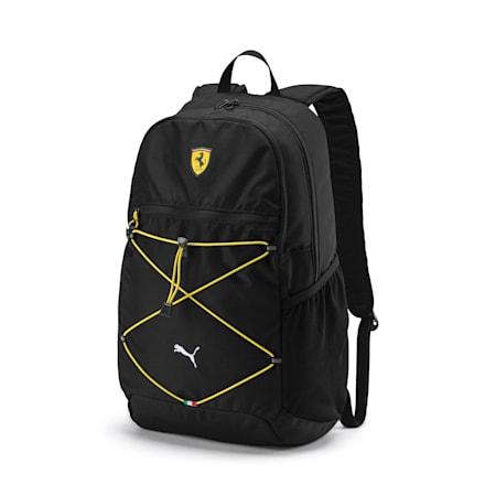 Mochila Scuderia Ferrari para fanáticos, Puma Black, pequeño
