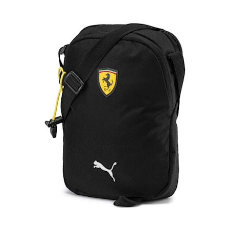 PUMA x Ferrari Fanware Portable Shoulder Bag, Puma Black, small-SEA