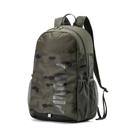 PUMA Style Backpack, Forest Night-Camo AOP, small-SEA