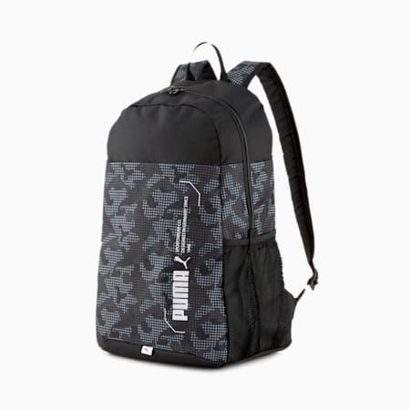 Plecak PUMA Style, Puma Black-Camo AOP, small