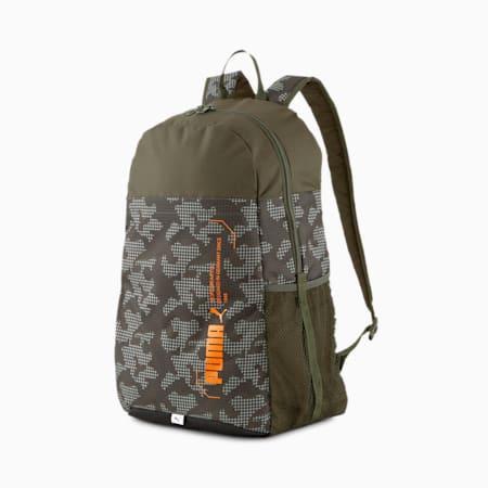 Plecak PUMA Style, Forest Night-Camo AOP, small
