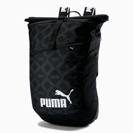 AOP Roll Top Backpack, Puma Black-AOP, small