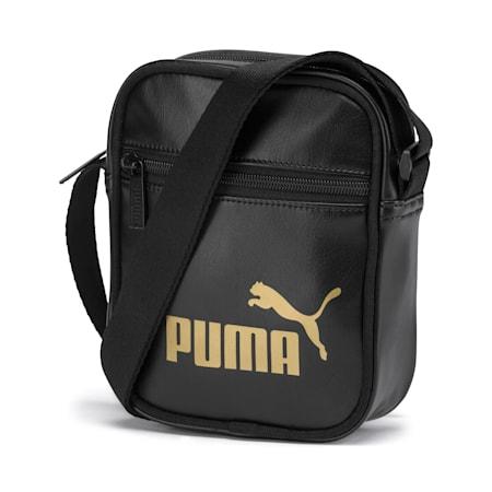 Up Women's Portable Shoulder Bag, Puma Black-gold, small-IND