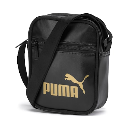 Up Women's Portable Shoulder Bag, Puma Black-gold, small-SEA