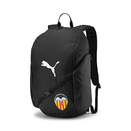 Valencia CF LIGA Football Backpack, Puma Black-Puma White, small-IND