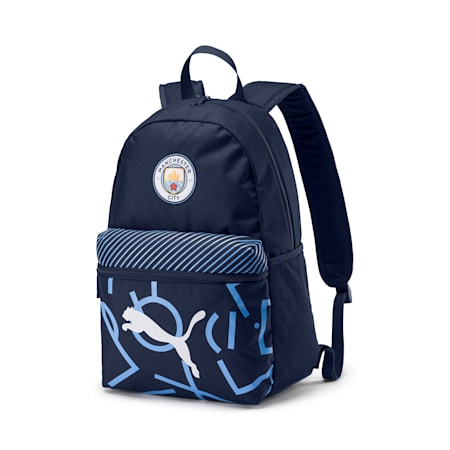 Man City Graphic Backpack, Peacoat-Team Light Blue, small-SEA