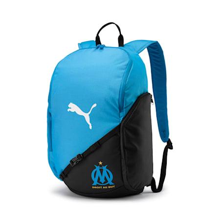 Olympique de Marseille LIGA Backpack, Bleu Azur-Puma Black-White, small-IND