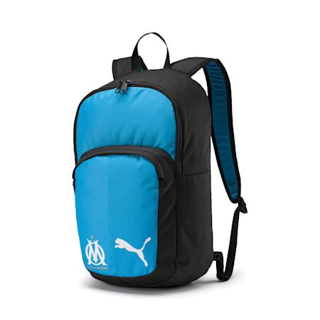 Olympique de Marseille Pro Training II Backpack, Puma Black-Bleu Azur, small-IND