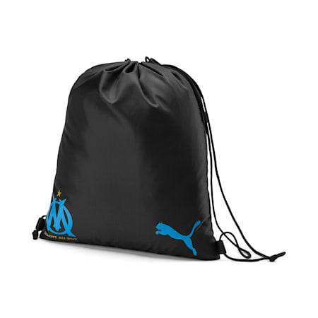 Olympique de Marseille Gym Sack, Puma Black-Bleu Azur, small