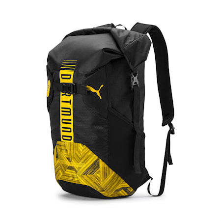 BVB Culture Backpack, Puma Black-Cyber Yellow, small