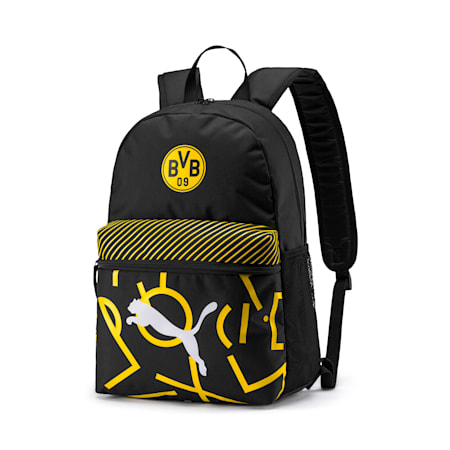 BVB DNA Backpack, Puma Black-Cyber Yellow, small