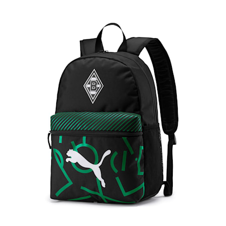 Borussia Mönchengladbach DNA Backpack, Puma Black-Amazon Green, small-IND