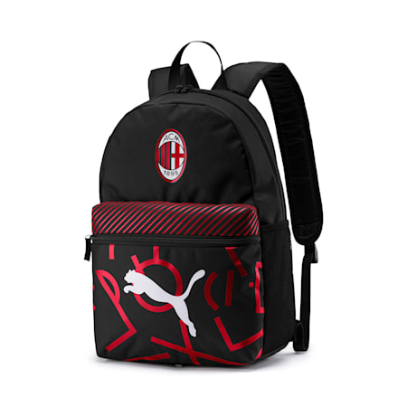 AC Milan DNA Fan Backpack, Puma Black-Tango Red, small-IND