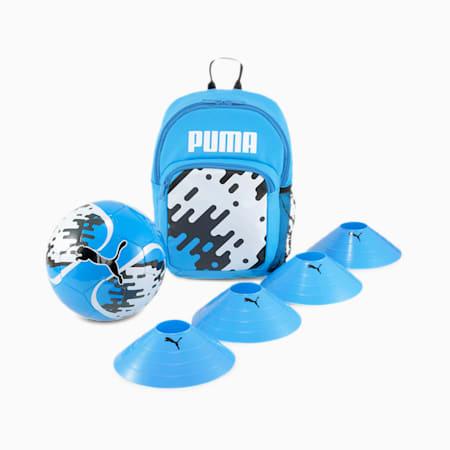 Kids' Football Backpack Set, Luminous Blue-Black-Asphalt, small