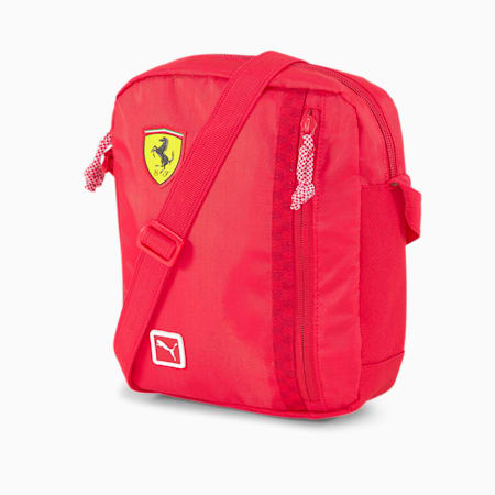 Scuderia Ferrari Fanwear Portable Shoulder Bag, Rosso Corsa, small