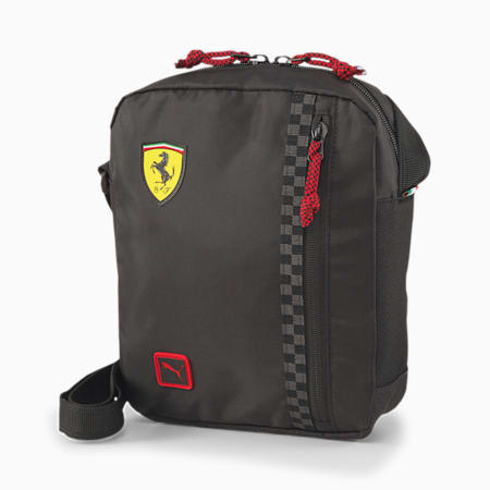 Scuderia Ferrari Fanwear Portable Shoulder Bag, Puma Black, small-SEA