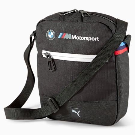 BMW M Motorsport Portable Shoulder Bag, Puma Black, small