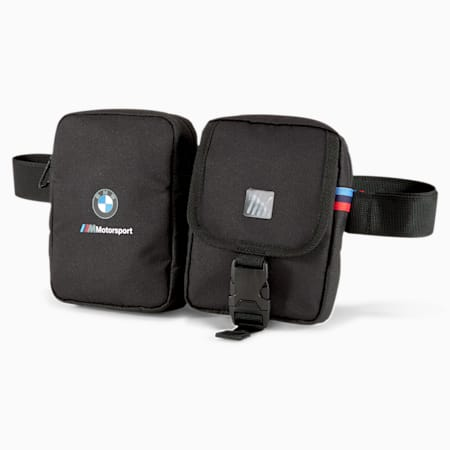 BMW M Motorsport Utility Waist Bag, Puma Black, small