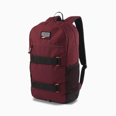 PUMA Deck Unisex Backpack, Zinfandel, small-IND