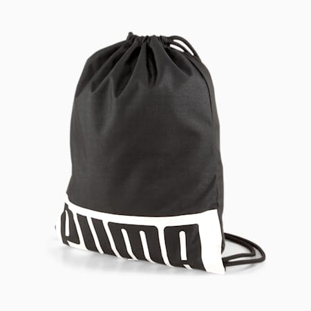 PUMA Reflective Tec Deck Gym Sack II, Puma Black, small-IND