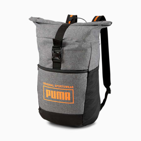 PUMA Sole Backpack, Medium Gray Heather-Vibrant, small