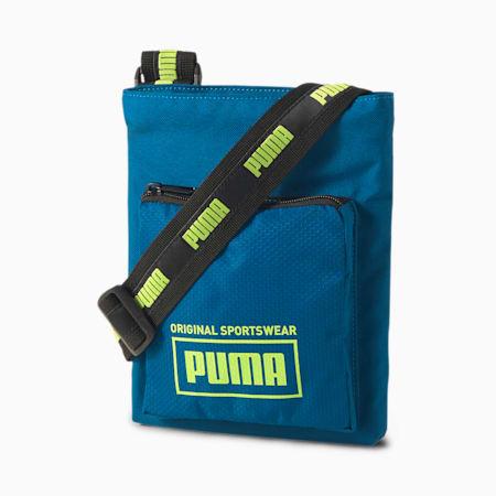 Sole Portable Shoulder Bag, Digi-blue-Sharp Green, small-SEA
