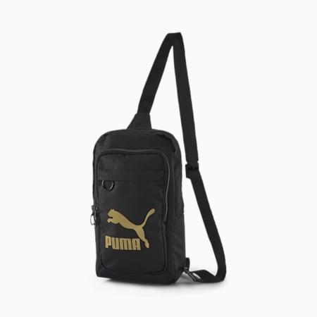 Originals Woven X-Bag, Puma Black-Gold, small-SEA