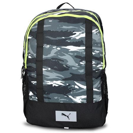 PUMA Perky Backpack IND, Puma Black-AOP, small-IND